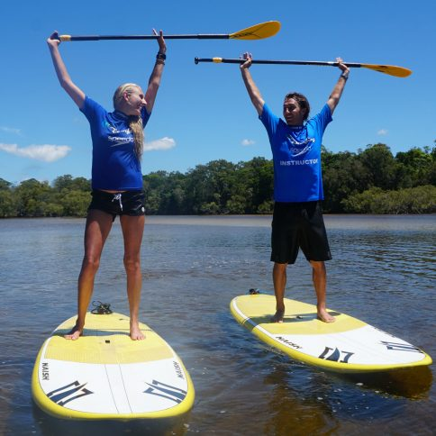 Adult Stand Up Paddle Boarding lesson in Byron Bay